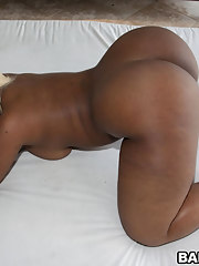 Gizelle XXX's huge black ass. This girl has a fucking jelly factory 24-7 on her rear.