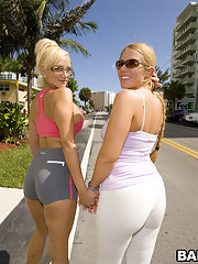 We got four juicy asses with these chick's named Valerie and Skyla Paris.