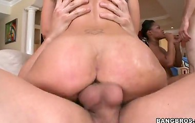 Nice juicy booty -  Three phat botheration babies. Here for our botheration shaking pleasure is Aryana Adin, Paris Sweetz and Elizabeth Bentley.